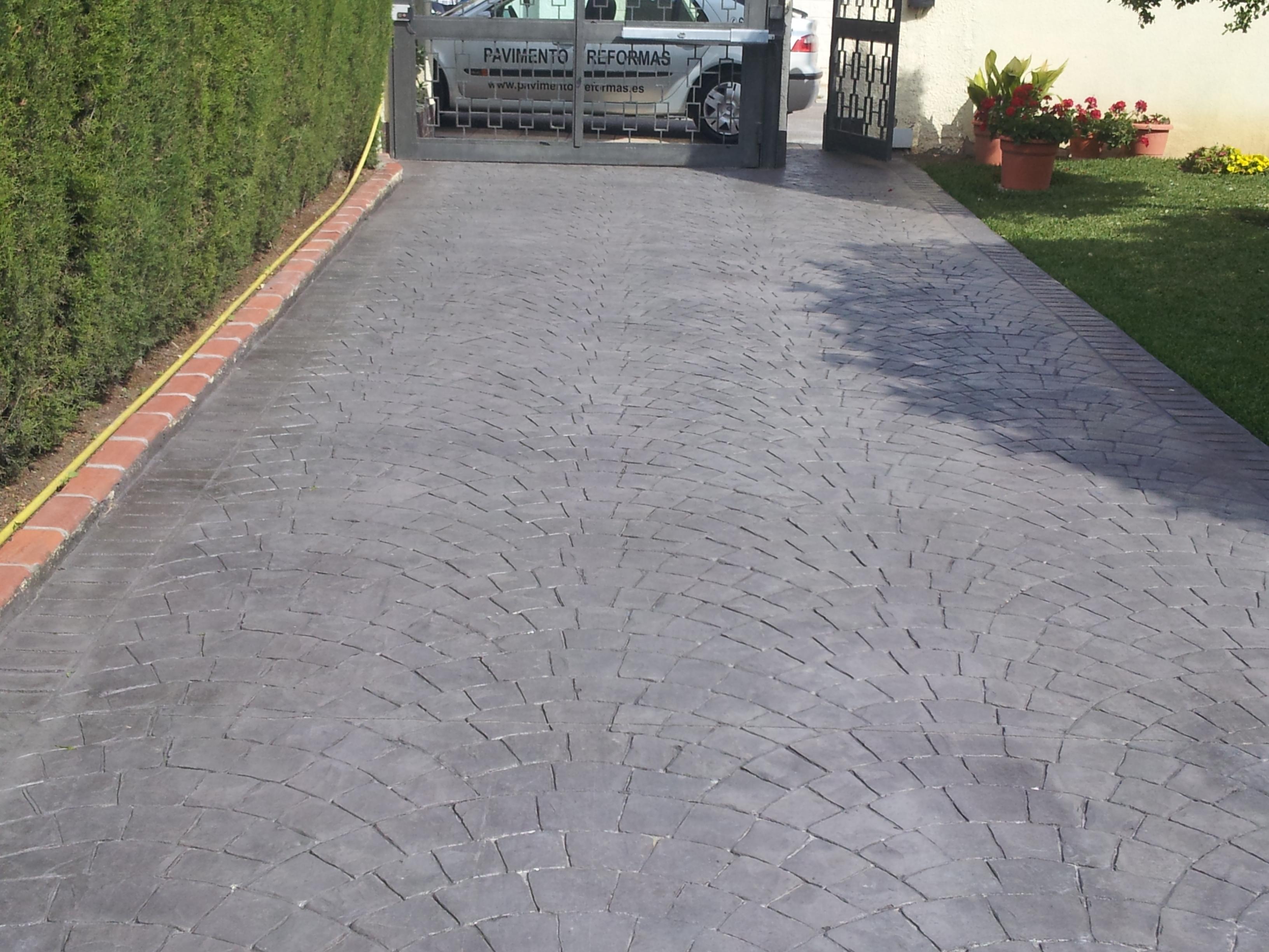 Hormigon impreso en ador pavimentos impreso en ador for Pavimento de cemento